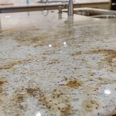 Colonial White Granite Surface