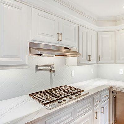 White Kitchen Refurbished Cabinets